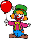 Clown with balloon Royalty Free Stock Photo