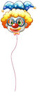 A clown balloon with an eyeglass illustration of on white background Royalty Free Stock Image