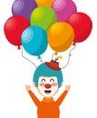 clown balloons festival funfair funny design Royalty Free Stock Photo