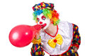 Clown with balloons isolated on white Stock Image