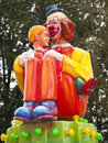 Clown with boy in park Royalty Free Stock Photography
