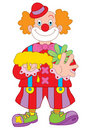 Clown cartoon illustration Stock Photo