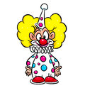 Clown circus cartoon isolated illustration Royalty Free Stock Photo