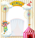 A clown in the circus illustration of on white background Royalty Free Stock Images