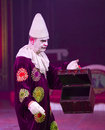 Clown at circus spectacle unidentified performs during the new of raluy on january in barcelona spain Stock Images