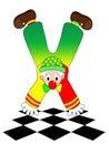 Clown coloré de vecteur sur le fond blanc Photographie stock libre de droits