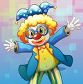 A clown with a colorful costume illustration of Royalty Free Stock Image
