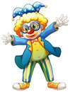 A clown with a colorful costume illustration of on white background Stock Photos