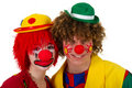 Clown couple Royalty Free Stock Photos