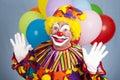 Clown d'anniversaire - surprise Images libres de droits