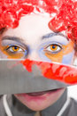 Clown de regard fixe de la mort Photo stock
