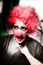 Clown della l$signora Frightened del The Scared Immagine Stock
