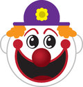 Clown Face Stock Photography