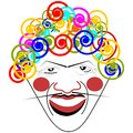 Clown face portrait of vector illustration Royalty Free Stock Image