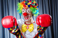 Clown with  gloves gloves Royalty Free Stock Image