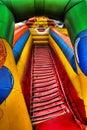 Clown gonflable au fun-fair Photos libres de droits