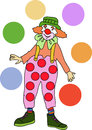 Clown hand drawn line drawing of a Royalty Free Stock Photo