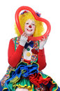 Clown Holding Red Heart Royalty Free Stock Photo