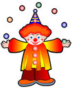 Clown juggler with balls stock illustration Stock Image