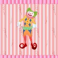 Clown juggling colorful playing card Royalty Free Stock Images