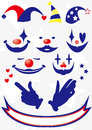 Clown material face hand and hat Stock Photography