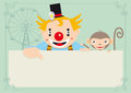 Clown with monkey Royalty Free Stock Images