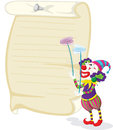 Clown and paper illustration of a in front of Royalty Free Stock Image