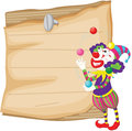 Clown and paper illustration of a in front of Royalty Free Stock Photography