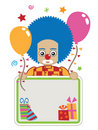 Clown party card Stock Images