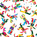 Clown pattern circus seamless design Royalty Free Stock Image