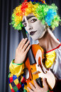 Clown playing Stock Photography