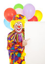 Clown Points to Sign Royalty Free Stock Image