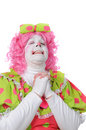 Clown Praying Stock Photography