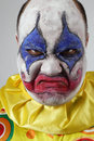 Clown psychopathe mauvais Images libres de droits