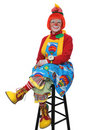 Clown Sitting and Smiling Royalty Free Stock Image