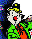 Clown with speech bubble comic book style illustration of a Royalty Free Stock Photography