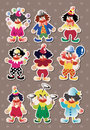 Clown stickers Royalty Free Stock Photo