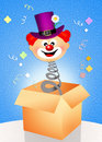Clown surprise funny illustration of Royalty Free Stock Photo