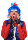 Clown Surprised Royalty Free Stock Image