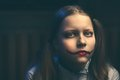 Clown teen girl evil looking at the camera Stock Photography