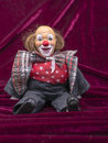 Clown toy antique puppet in vintage style Stock Photography