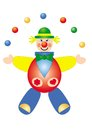 Clown toy color vector illustration Royalty Free Stock Photography