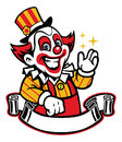 Clown vector of greeting funny Royalty Free Stock Photography