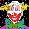 Clown wallpaper Royalty Free Stock Photo