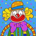 Clown wallpaper Stock Images