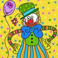 Clown wallpaper Stock Image