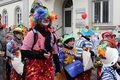 Clowns in carnival street parade wiesbaden germany Stock Photography