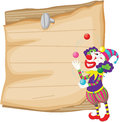 Clowns clown illustration with note area Royalty Free Stock Image