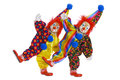 Clowns with costume Royalty Free Stock Images