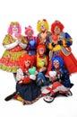 Clowns Holding Hearts Royalty Free Stock Photo